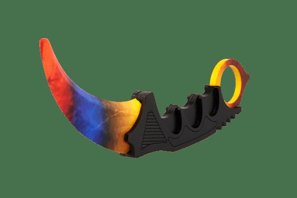 Деревянный нож Керамбит VozWooden Мраморный Градиент (реплика) Фото №1