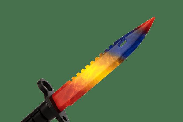 Деревянный Штык-нож М9 Bayonet VozWooden Мраморный Градиент (реплика) Фото №3