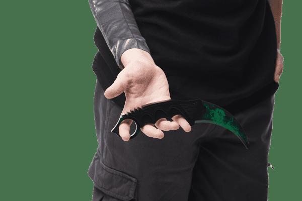 Деревянный нож Керамбит VozWooden Волны Изумруд (реплика) Фото №4