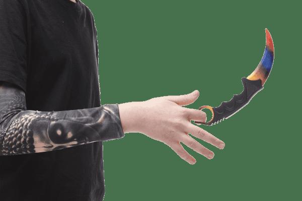 Деревянный нож Керамбит VozWooden Мраморный Градиент (реплика) Фото №5