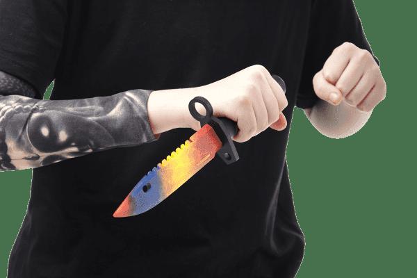 Деревянный Штык-нож М9 Bayonet VozWooden Мраморный Градиент (реплика) Фото №5