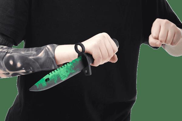 Деревянный Штык-нож М9 Bayonet VozWooden Волны Изумруд (реплика) Фото №5