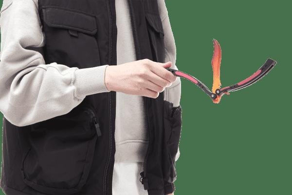Деревянный нож Бабочка VozWooden Градиент (реплика) Фото №5