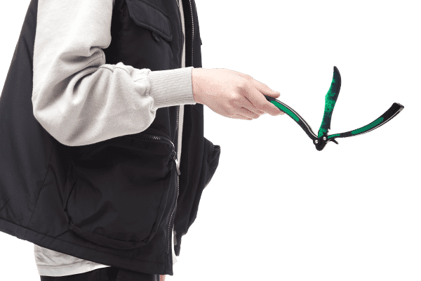 Деревянный нож Бабочка VozWooden Волны Изумруд (реплика) Фото №1