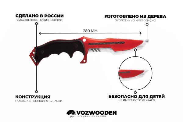 Деревянный Охотничий нож Хантер VozWooden Автотроника (реплика) Фото №1