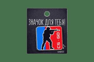 Деревянный значок VozWooden CS:GO Квадратный Фото №1