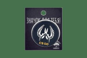 Деревянный значок VozWooden CS:GO Круглый Фото №1