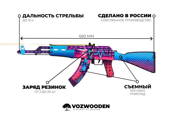 АК-47 Неоновый Гонщик за 1690 руб Фото №6