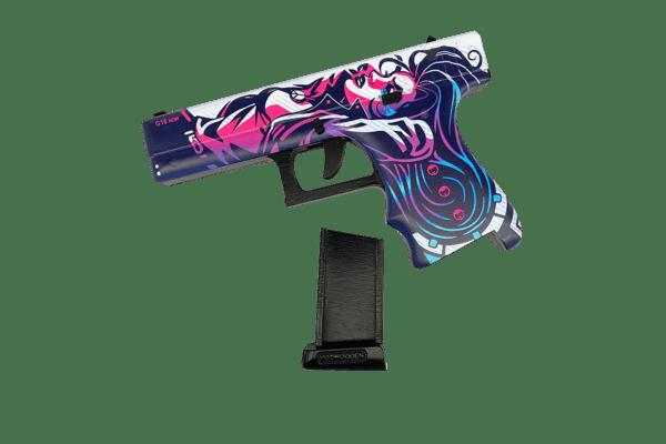 Пистолет VozWooden Glock-18 Нео-Нуар (деревянный резинкострел) Фото №1