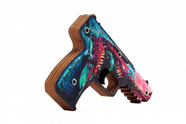 Пистолет VozWooden Five-seveN версия 1.6 Скоростной Зверь (деревянный резинкострел) Фото №1