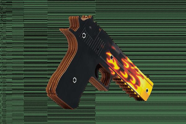 Пистолет VozWooden Desert Eagle версия 1.6 Пламя (деревянный резинкострел) Фото №1