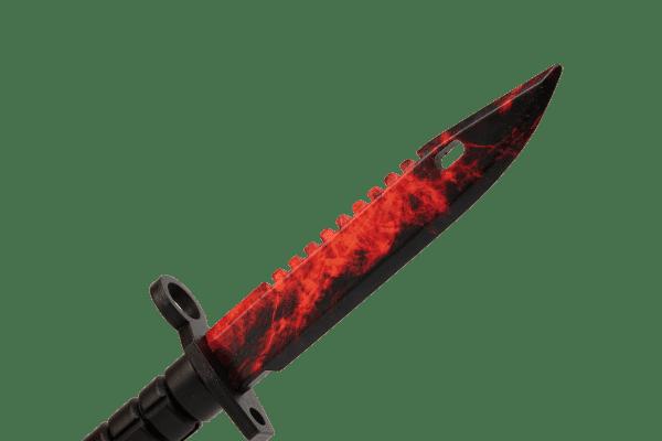 Деревянный Штык-нож М9 Bayonet VozWooden Волны Рубин (реплика) Фото №1