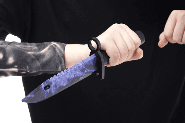 Деревянный Штык-нож М9 Bayonet VozWooden Волны Сапфир (реплика) Фото №1