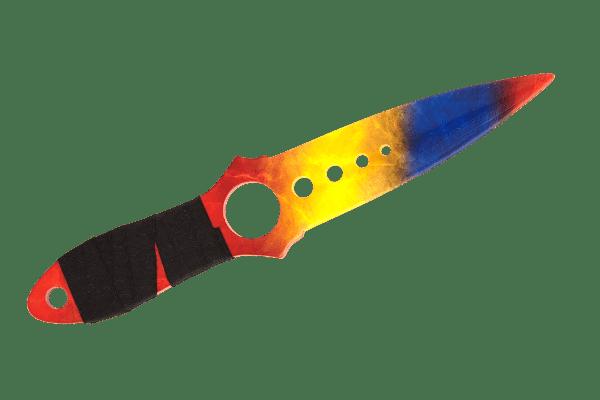 Деревянный Скелетный нож VozWooden Мраморный Градиент (реплика) Фото №1