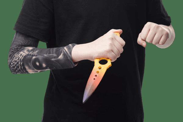 Деревянный Скелетный нож VozWooden Градиент (реплика) Фото №1