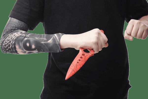 Деревянный Скелетный нож VozWooden Кровавая Паутина (реплика) Фото №5