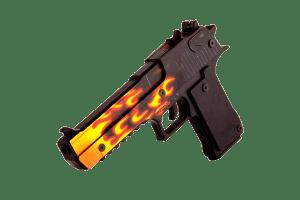 Деревянный пистолет VozWooden Active Desert Eagle Пламя (резинкострел) Фото №1