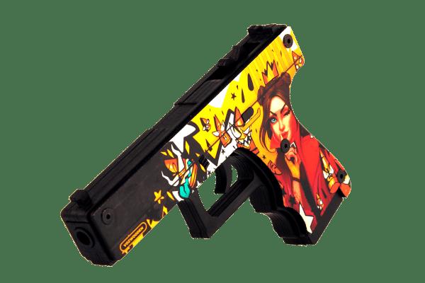 Деревянный пистолет VozWooden Active Glock-18 Королева Пуль (резинкострел) Фото №1