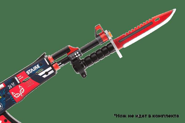 Деревянный автомат VozWooden Active АК-47 Кровавый Спорт (резинкострел) Фото №1
