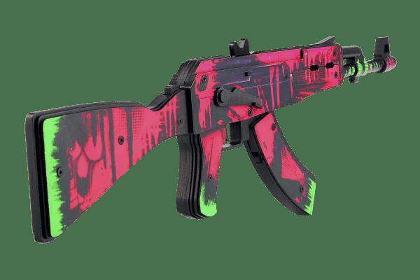 Деревянный автомат VozWooden Active АК-47 Неоновая Революция (резинкострел) Фото №1