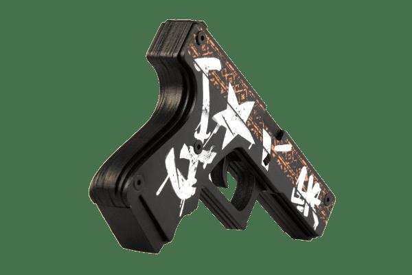 Деревянный пистолет VozWooden Active Glock-18 Пустынный Повстанец (резинкострел) Фото №1