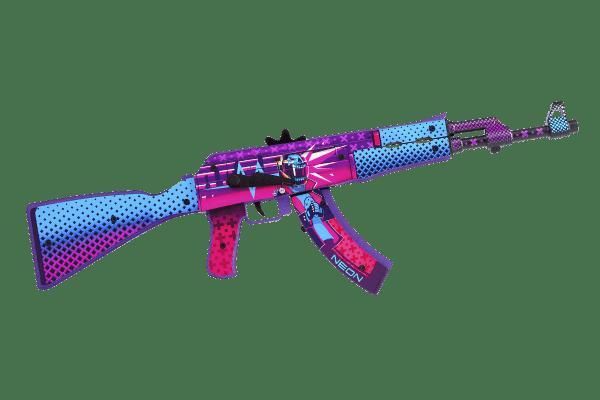 Деревянный автомат VozWooden Active АК-47 Неоновый Гонщик (резинкострел) Фото №3