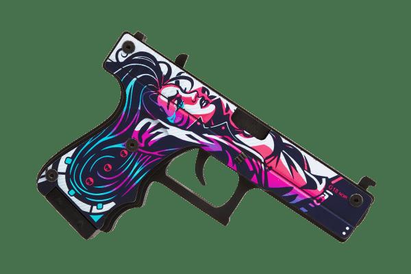 Деревянный пистолет VozWooden Active Glock-18 Нео-Нуар (резинкострел) Фото №1
