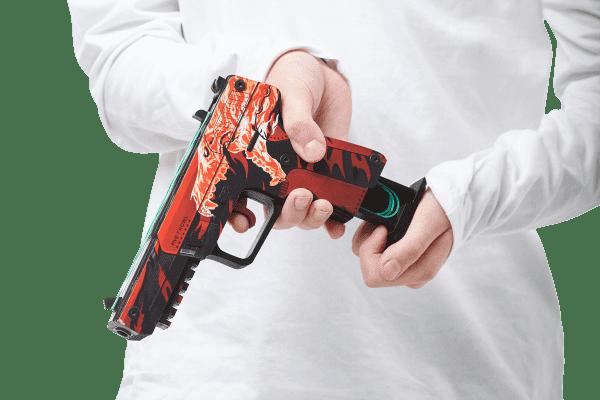 Деревянный пистолет VozWooden Active Five-seveN (FN) Вой (резинкострел) Фото №4