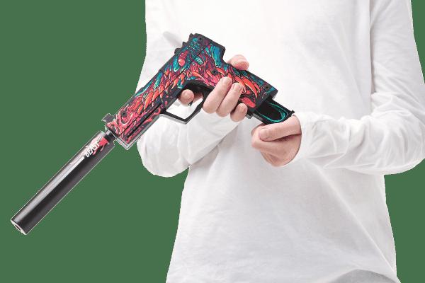 Деревянный пистолет VozWooden Active USP-S Скоростной Зверь (резинкострел) Фото №4