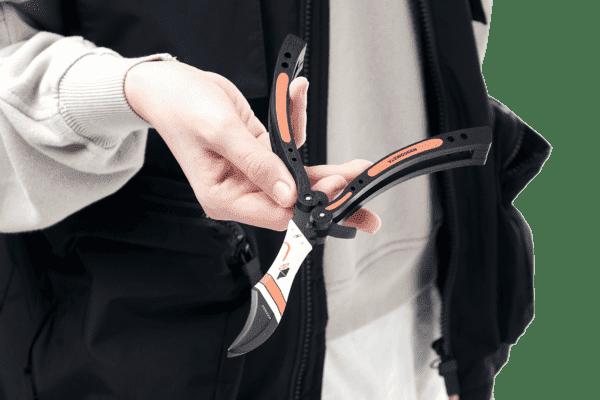Деревянный нож Бабочка VozWooden Азимов (реплика) Фото №4