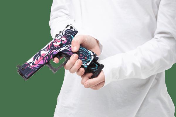 Деревянный пистолет VozWooden Active Glock-18 Нео-Нуар (резинкострел) Фото №4