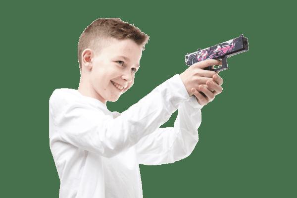 Деревянный пистолет VozWooden Active Glock-18 Нео-Нуар (резинкострел) Фото №5
