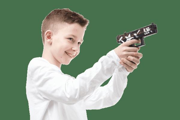 Деревянный пистолет VozWooden Active Glock-18 Пустынный Повстанец (резинкострел) Фото №5