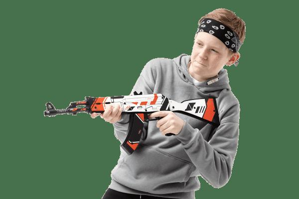 Деревянный автомат VozWooden Active АК-47 Азимов (резинкострел) Фото №6