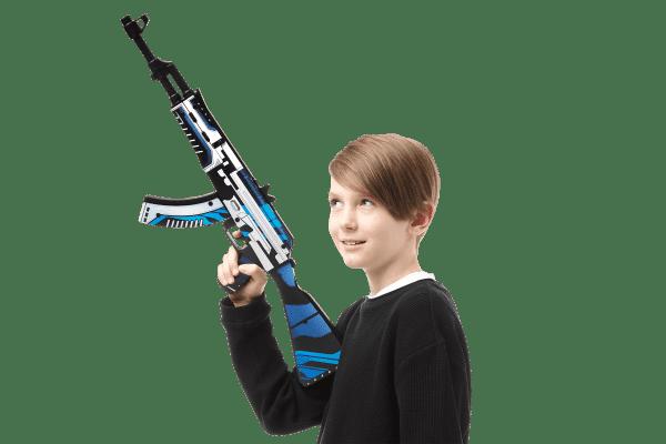Деревянный автомат VozWooden Active АК-47 Вулкан (резинкострел) Фото №6