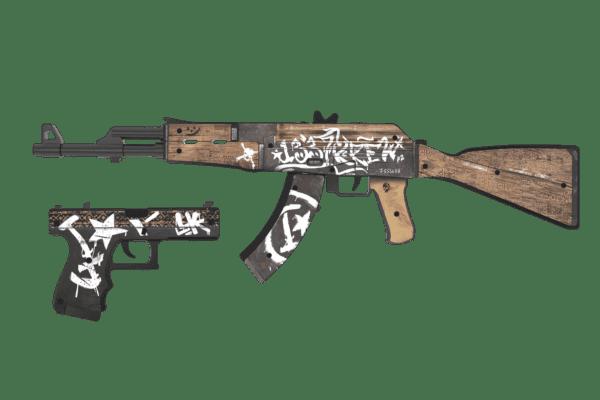 Деревянный пистолет VozWooden Active Glock-18 Пустынный Повстанец (резинкострел) Фото №7