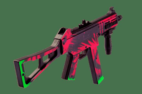 Пистолет-пулемет VozWooden Active UMP-45 Неоновая революция (деревянный резинкострел) Фото №2