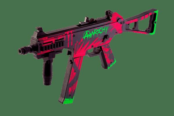 Пистолет-пулемет VozWooden Active UMP-45 Неоновая революция (деревянный резинкострел) Фото №3