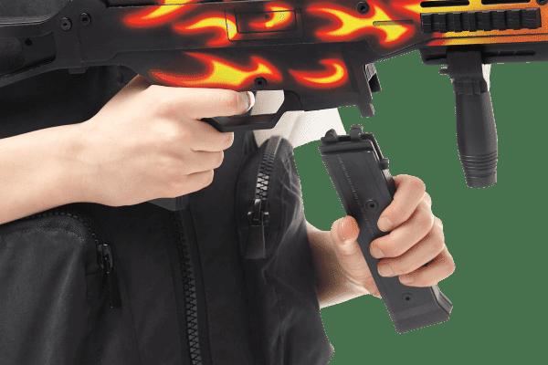 Пистолет-пулемет VozWooden Active UMP-45 Пламя (деревянный резинкострел) Фото №5