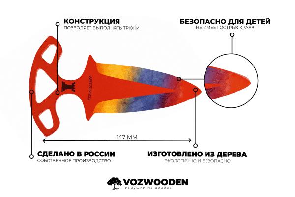 Деревянные Тычковые ножи VozWooden Мраморный Градиент (реплика) Фото №5