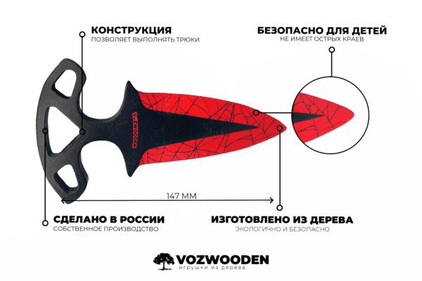Деревянные Тычковые ножи VozWooden Кровавая Паутина (реплика) Фото №5
