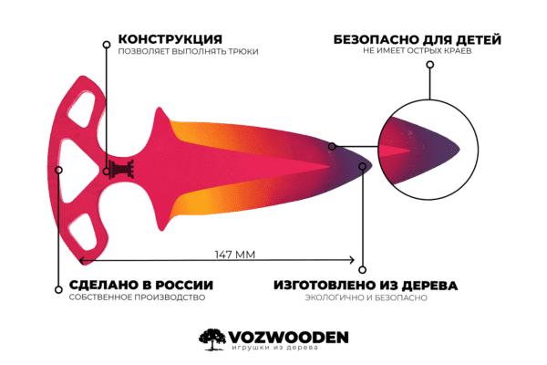 Деревянные Тычковые ножи VozWooden Градиент (реплика) Фото №5