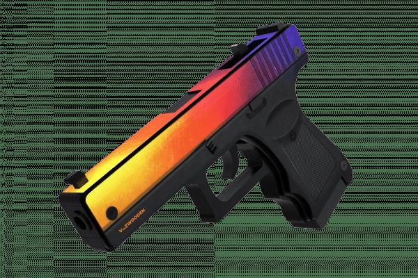 Деревянный пистолет VozWooden Active Glock-18 Градиент (резинкострел) Фото №1