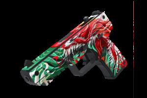 Деревянный пистолет VozWooden Active Five-seveN Веном (Стандофф 2 реплика) Фото №1