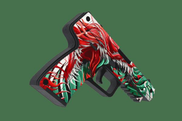 Деревянный пистолет VozWooden Active Five-seveN Веном (Стандофф 2 реплика) Фото №2