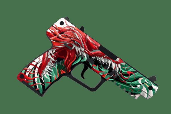 Деревянный пистолет VozWooden Active Five-seveN Веном (Стандофф 2 реплика) Фото №3