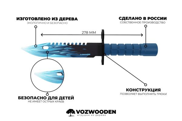 Деревянный штык нож М9 Bayonet VozWooden Драгон Гласс (Стандофф 2 реплика) Фото №4